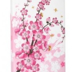 Husa florala silicon rigid  iphone 5 + folie protectie ecran