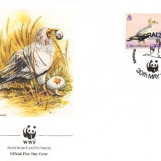 WWF FDC 1991 Gibraltar complet serie - 4 buc. FDC - pasari