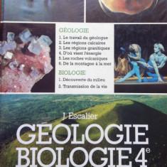 GEOLOGIE, BIOLOGIE - J. Escalier (Manual in limba franceza) - Carte Biologie