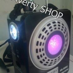 BOXA MP3 SI RADIO FM cu SLOT USB / CARD SD + ACUMULATOR INTERN SI BATERII !! 10 W Reali Waxiba !! - MP3 player