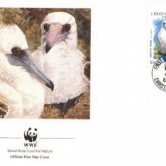 WWF FDC complet serie/4buc./ Christmas Isl 1990 - sea bird