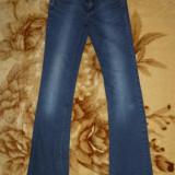 Blugi Zara Basic, model Slim Fit; marime 36: 74 cm talie, 106.5 cm lungime - Blugi dama Zara, Culoare: Din imagine
