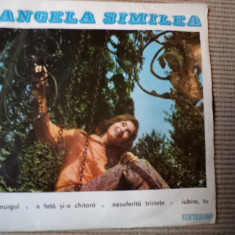 Angela similea amurgul Nesuferita tristete single disc vinyl Muzica Pop electrecord usoara, VINIL