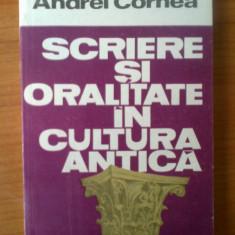 D3 Andrei Cornea - Scrieri si oralitate in cultura antica - Filosofie