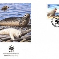 WWF FDC complet set /4 buc./ Guernsey 1990 - fauna