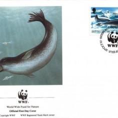 British Antarctic Teritory WWF FDC complet set 1992 /4 buc./ - fauna