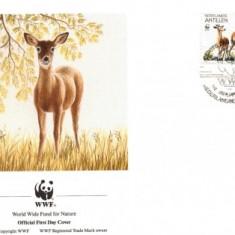 WWF FDC /4buc./ complet set 1992 netherland Antiles - Deer