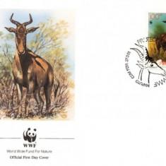 WWF FDc 1991 Mozambik complet serie - 4 buc. FDc - Lichtenstein Antilope