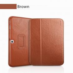 Husa Executive Case Piele Naturala Samsung Galaxy Tab3 10.1 P5200 by Yoobao Originala Brown - Husa Tableta