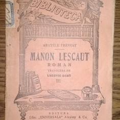 Carte - Abatele Prevost - Manon Lescaut - III - Carte veche