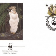 WWF FDC 1991 Philippinen complet serie - vultur - 4buc. FDC