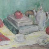 Natura moarta - I - Maria Alexandru - 42x60 cm - acuarela - Pictor roman, Realism