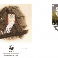 WWF FDC 1989 Jersey complet serie fauna - 4 buc. FDC