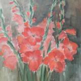 Natura moarta - II - Maria Alexandru - 49x55 cm - acuarela - Pictor roman, Realism