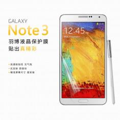 Folie Samsung Galaxy Note 3 N9000 Transparenta by Yoobao Made in Japan Originala - Folie de protectie Yoobao, Lucioasa