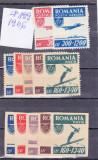 ROMANIA LP 199-1946 + LP 200-1946 ORGANIZATIA SPORTULUI POPULAR ;dantelate+nedantelate+PA
