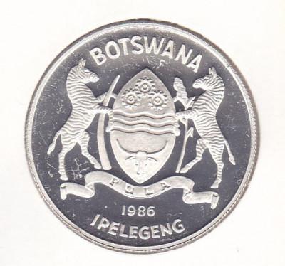 Moneda Botswana 2 Pula 1986 - KM#18 Proof (argint 0,925 - 28