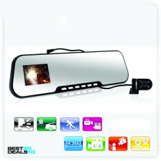 DVR Auto Oglinda HD 1080P Real | Card 8GB | Dubla Lentila SAMSUNG | Night Vision - Camera video auto, Foto: 1, Display: 1, G Sensor: 1, Difuzor: 1