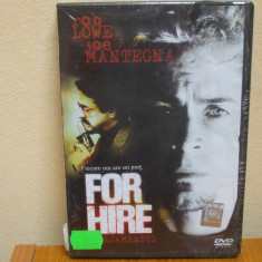 FOR HIRE (ANGAJAMENTUL) (ALVio) (DVD) SIGILAT!!! - Film thriller, Romana
