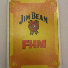 Carti de joc noi FHM si Jim Beam imagini de coperta vedete Romania de colectie - Carti poker