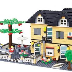 SET JOC CONSTRUCTIE tip lego, CONSTRUCTION VILLA, MARE DIMENSIUNE 800 PIESE.CADOUL PEFECT. - Jocuri Seturi constructie Altele
