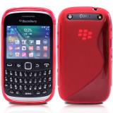 HUSA ELEGANTA S-LINE GEL SILICON TPU -Blackberry Curve 9320 - CULOAREA ROSIE / ROSU + FOLIE ECRAN + LAVETA - LIVRARE GRATUITA IN TARA !! - Husa Telefon
