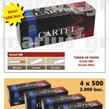 CARTEL 500 - Pachet 4 cutii tuburi de tigari x 500 buc pentru injectat tutun - Foite tigari