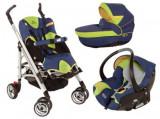 Carucior pentru copii Bebe Confort 3 in 1, model Lola, Altele, Pliabil, Albastru, Bebe Confort
