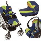 Carucior pentru copii Bebe Confort 3 in 1, model Lola - Carucior copii Sport Bebe Confort, Altele, Pliabil, Albastru, Maner reversibil
