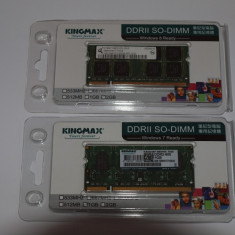 Memorie DDR2 (SO-DIMM) 1 GB - Memorie RAM laptop Kingmax, 800 mhz, Dual channel