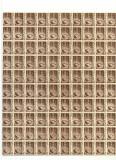 RO-38=ROMANIA 1947, Uzuala MIHAI, Coala de 100 bucati, 10.000 lei hartie alba,MNH