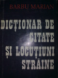 Barbu Marian - Dictionar de citate si locutiuni straine, Alta editura