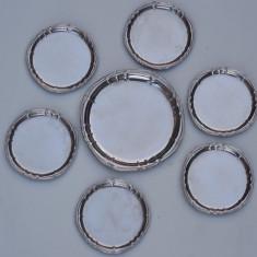 AuX: Lot format din sase farfurii mici si una mai mare, marcate Super Inox! - Metal/Fonta, Vase