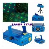 PROIECTOR LASER ACTIVARE LA SUNET. LASER CU MII DE RAZE, PUNCTE LASER ROSU+VERDE. - Laser lumini club