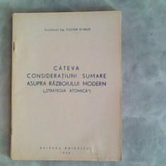 Cateva consideratiuni sumare asupra razboiului modern (strategia atomica)-Valter Roman, Alta editura
