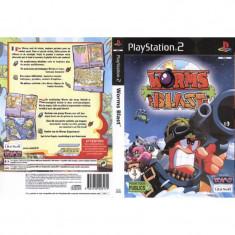 Joc original PS2 Worms Blast (3+) English 1 or 2 players (transport gratuit la comanda de 3 jocuri diferite) - Jocuri PS2 Ubisoft, Arcade, 3+, Multiplayer