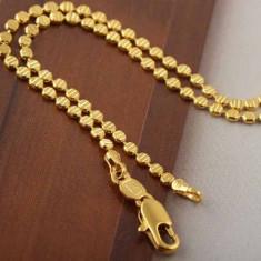 LIVRARE GRATUITA !!! - SUPERB SI MASIV LANT 9K GOLD FILLED, DIMENSIUNI: 60 X 1.2 CM, CUTIUTA ELEGANTA CADOU - Lantisor placate cu aur