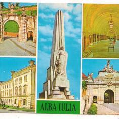 Carte postala(marca fixa) -ALBA IULIA-colaj