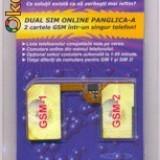 Adaptor dual sim panglica tip A / B nu necesita taierea cartelelor, SAU adaptor dual sim 3G pentru Galaxy S4, S3, S2, S, Note2, Iphone 4,4S,..5, 5S,5C
