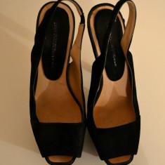 Pantofi negri de ocazie Zara - Pantof dama Zara, Culoare: Negru, Marime: 38, Negru