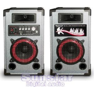 SISTEM COMPLET KARAOKE-BOXE AMPLIFICATE/ACTIVE 150 WATT P.M.P.O ,CITITOR MP3 INCLUS+SET MICROFOANE BONUS!