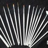 Pensule profesionale 15/SET nail art manichiura pedichiura unghii false - Ustensile