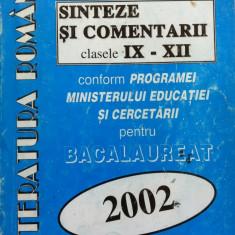 LITERATURA ROMANA SINTEZE SI COMENTARII CLASELE IX-XII - N. Nicolae, A Iordache