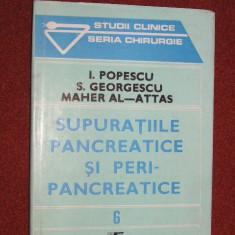 SUPURATIILE PANCREATICE SI PERIPANCREATICEI - Popescu, S. Georgescu, Maher Al-Attas - Carte Pediatrie