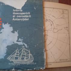 ISTORIA DESCOPERIRII SI CERCETARII ANTARCTIDEI TRESNIKOV harti carte stiinta - Carte Geografie