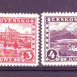 1926 cehoslovacia mi. 253-256 conditie**