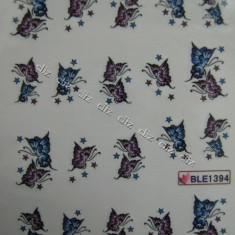Tatuaj transfer pe baza de apa sticker pentru decorare unghii BLE 1394 - Model unghii