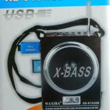 Radio portabil Waxiba XB-913USB   Redare MP3(USB/SD), Digital