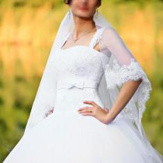 Rochie Mireasa Printesa Alba - Rochie de mireasa printesa