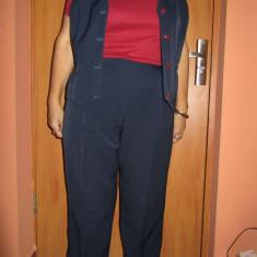 Costum de dama vesta si pantaloni - Costum dama, Culoare: Bleumarin